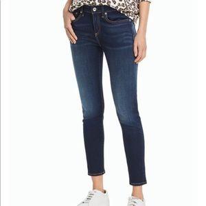 Rag and bone mid rise skinny jeans